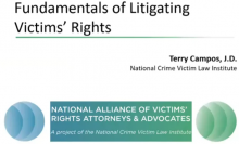 Fundamentals of Litigating Victims' Rights